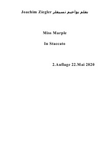 Miss Marple  In Staccato - Joachim Ziegler